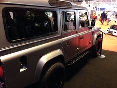 Awesome Twisted Defender paint work - satin grey