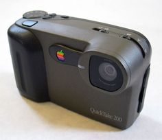 The Apple QuickTake was one of the first consumer digital camera lines. It was launched in 1994 by Apple Computer and was marketed for three years before being discontinued in 1997. Three models of the product were built including the 100 and 150, both built by Kodak; and the 200, built by Fujifilm. The QuickTake cameras had a resolution of 640 x 480 pixels maximum (0.3 Mpx).