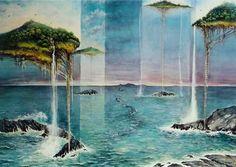 """Island"" watercolor 100X80 cm  1998"