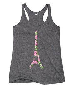 Look at this Gray Heather & Gold Elephant Racerback Tank - Women on today! Racerback Tank, Piece Of Clothing, Paris Fashion, Spring Summer Fashion, Lounge Wear, Outfit Of The Day, Heather Grey, Athletic Tank Tops, Dandelion