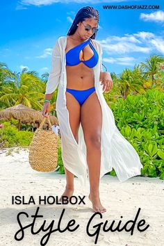 Packing for a beach vacation in the near future? Here's a tropical travel style guide and beach vacation packing list of what to pack for Isla Holbox, Mexico full of beach vacation outfit inspiration by Dash of Jazz. #dashofjazzblog #blackgirlbeachoutfit #blackgirlbeachoutfitideas #Mexicovacationoutfitsblackgirl #mexicovacationoutfitspackinglists #islaholboxmexico
