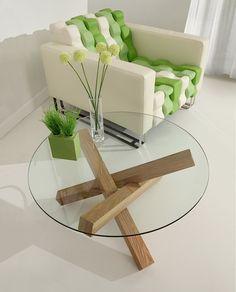 "Madik Coffee Table- Walnut. www.moderndigsfurniture.com - $348 - 31.5""w x 31.5""d x 16""h"