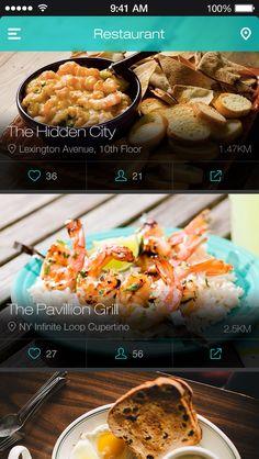 餐厅应用列表页设计,来源自黄蜂网http://woofeng.cn/