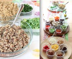 "Health-Nut's Delight: Quinoa ""Build-A-Bowl"" Party!!"