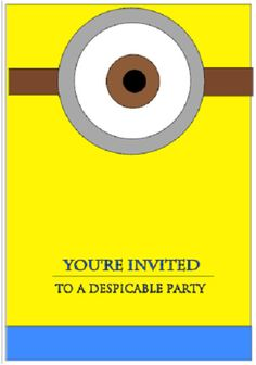 Despicable Me Party Invitations  Customized to your by Vinylly, $6.00