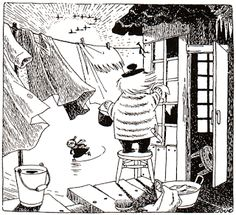 Tove Jansson, Moomins creator-it is believed based the boisterous character Too-ticky on her life partner, artist Tuulikki Pietilä Illustrations, Book Illustration, Moomin Valley, Tove Jansson, Little My, A Comics, Totoro, Female Art, Fairy Tales