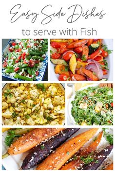 Seafood is not only healthy but it is often easy to make and delicious. Every amazing fish dish deserves an equally amazing side dish to serve with it. Today I am sharing 17 Easy Side Dishes for Fish from salads, tovegetables, to rice, to potatoes.// acedarspoon.com #fish #seafood #sidedishes #vegetables #potatoes #rice Fish Sides, Side Dishes For Fish, Dishes To Go, Vegan Side Dishes, Dinner Side Dishes, Best Side Dishes, Side Dish Recipes, Dinner Recipes, Vegetable Sides
