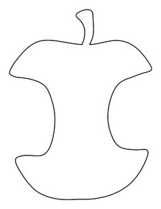 Apple core pattern. Use the printable outline for crafts, creating stencils, scrapbooking, and more. Free PDF template to download and print at http://patternuniverse.com/download/apple-core-pattern/