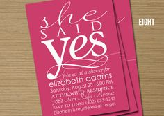 she said yes - shower invites  #RobbinsBrothers #GetEngaged