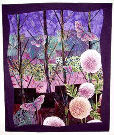 Barbara Strobel Lardon Art quilts: Butterflies Are Free