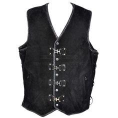 Related image Motorcycle Vest, Biker Vest, Leather Vest, Suede Leather, Big People, Braids, Jackets, Motors, Image