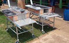 Fogão a lenha  3 em 1 - Fogão, forno e churrasqueira