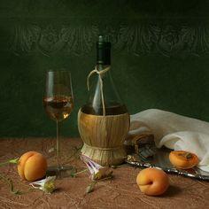 Wine and apricots by Elena Kolesneva, via 500px