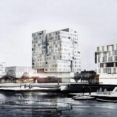 The Nordhavnen development in Copenhagen, Denmark. #morfae #arup #nordhavnendevelopment