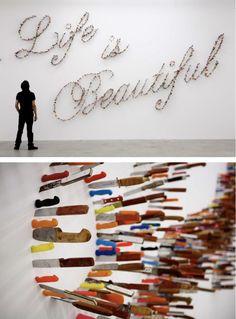 'Life is Beautiful' by Iranian artist Farhad Moshiri
