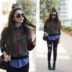 Get this look: http://lb.nu/look/7883444  More looks by Melike Gül: http://lb.nu/melikegul  Items in this look:  Asos Sweatshirt, Romwe Jeans   #casual #grunge #street