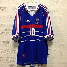 #Zinedine zidane #10 france home football #shirt xl adult 1998 #world cup origina,  View more on the LINK: http://www.zeppy.io/product/gb/2/162239106947/