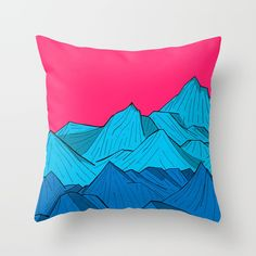 Check out society6curated.com for more! @society6 #illustration #home #decor #homedecor #interior #design #interiordesign #buy #shop #shopping #sale #apartment #apartmentgoals #sophomore #year #house #fun #cool #unique #gift #giftidea #idea #pillows #drawing #pink #blue #mountains #red