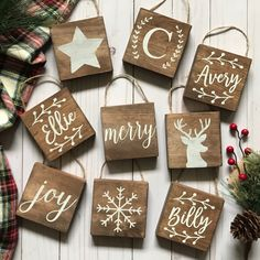 Browse unique items from EastwoodCircle on Etsy, a global marketplace of handmade, vintage and creative goods. Rustic Christmas Ornaments, Wooden Christmas Decorations, Pallet Christmas, Christmas Crafts For Gifts, Homemade Christmas Gifts, Christmas Signs, Christmas Projects, Wooden Ornaments, Pintura Country
