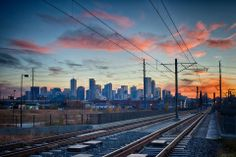 Alpenglow Sunset on the Lightrail to Downtown Denver