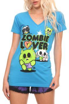 e03b207e25d0 Ohiya Zombie Lover V-Neck Girls T-Shirt