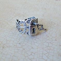Lock and Key Steampunk Ring EXCLUSIVE DESIGN by EnchantedLockets