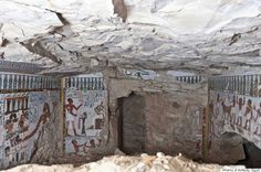 *EGYPT ~ The tombs, found earlier this month in the Sheikh Abd el-Qurna ('Tombs of the Nobles') archaeological site, are believed to date back to the 18th Dynasty of the Egyptian New Kingdom (1543-1292 B.C.), according to a written statement from The American Research Center in Egypt. Both were covered in hieroglyphics and colorful murals on plaster depicting the tomb's owners, who are believed to be father and son.