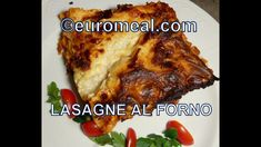 Lasagne al forno - euromeal.com Meat, Food, Meat Sauce, Roasts, Cooking, Souffle Dish, Meal, Eten, Meals