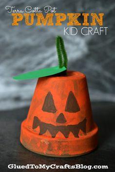 Terra Cotta Pot Pumpkin {Kid Craft}