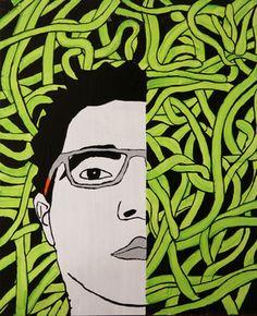 "Saatchi Art Artist Eduardo Bessa Rodrigues; Painting, ""Self-portrait"" #art"