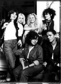 Rock chicks...the originals: Chrissie Hynde, Debbie Harry, Viv Albertine, Siouxsie Sioux, Poly Styrene, and Pauline London