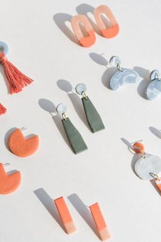 How to Make Clay Earrings + DIY Clay Jewelry Techniques That Will Turn Heads. How to Make Clay Earrings + DIY Clay Jewelry Techniques That Will Turn Heads. Diy Clay Earrings, How To Make Earrings, Polymer Clay Jewelry, Diy Earrings Studs, Diy Necklace, Diy Earing, Diy Earrings Dangle, Diy Earrings Easy, Diy Bracelet