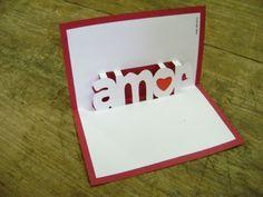 Cartão pop-up: Amor