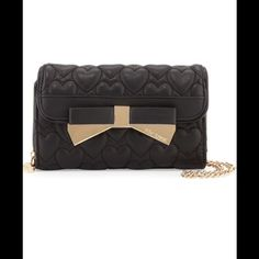 NWT black Betsey Johnson wallet/satchel Brand new with tags, (be mine 4ever) black satchel/ Wallet Betsey Johnson Bags Wallets