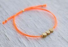 Honey comb w/ Neon Colored Bracelet
