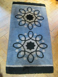Rare Festival Of Britain Period 1950s 50s Atomic Helix Pattern Rug Vintage Retro