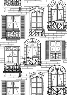 coloring pages - This would be so cool to wood burn! Coloring Pages For Grown Ups, Coloring Book Pages, Printable Coloring Pages, Coloring Sheets, Doodle Drawings, Doodle Art, Window Drawings, Zentangles, Line Drawing