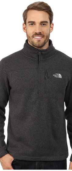 The North Face Gordon Lyons 1/4 Zip Pullover (Asphalt Grey Heather) Men's Long Sleeve Pullover - The North Face, Gordon Lyons 1/4 Zip Pullover, CUA87D1, Apparel Top Long Sleeve Pullover, Long Sleeve Pullover, Top, Apparel, Clothes Clothing, Gift - Outfit Ideas And Street Style 2017