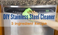 DIY Stainless Steel Cleaner | 3-Ingredient Recipe