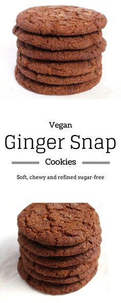 Vegan Ginger Snaps - Easy, Chewy, Delicious vegan ginger snap cookies