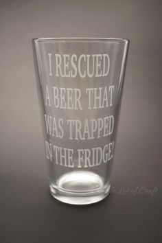 Funny Beer Mug - Gift for Guys - Etched Beer Glass - Gift for Beer Lover - Man Cave Bar - Husband Gift - Fathers Day Gift - Craft Beer Glass by WholeLotOfCraft on Etsy https://www.etsy.com/listing/268330508/funny-beer-mug-gift-for-guys-etched-beer #beerlover