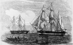 The ships HMS Erebus and HMS Terror. Fabled Arctic ship found One of two British explorer ships that vanished in the Arctic more than 160 years ago has been found, Canada's prime minister says. Stephen Harper said it was unclear which ship had been found, but photo evidence confirmed it was one of them. Sir John Franklin led the two ships and 129 men in 1845 to chart the Northwest Passage in the Canadian Arctic.