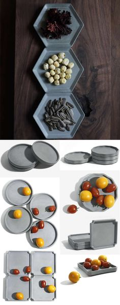 Custom Made Concrete Mini Trays Office Desk Stationery Organizer Paper Clip Container Holder, great for all types of events. Love these.