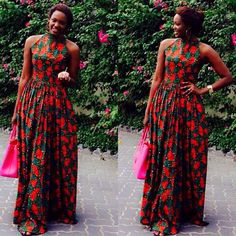 Maxi dress designed by Kiki Zimba