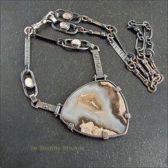 Strukova Elena - авторские украшения - Ожерелье с агатом