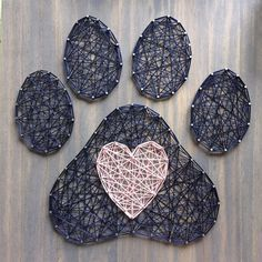 MADE TO ORDER String Art Paw Print and Heart Sign