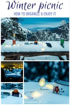 How to organize a winter picnic in the snow (+ activities list) | 203Challenges | picnic ideas | picnic inspiration | unusual picnic ideas | date ideas | picnic inspirational photos