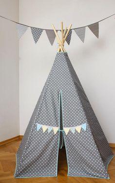 #pacztipi #pacz #teepee #tipi #wigwam #tent #crochet #pillows #stars #clouds #radosnafabryka #handmade Kids Room, Room Decor, Cool Stuff, Fabric, Cotton, Home, Cool Things, Tejido, Tela