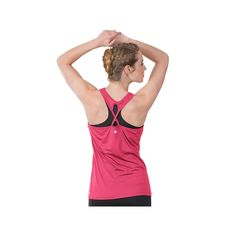Women's Soybu Victory Strappy Racerback Tank Top, Size: XS, Med Pink