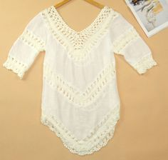 Summer Style 2015 Women Blouses Hot Selling Plus Size Lace Crochet Blusas Femininas Shirt Tropical Tops for Women Clothing 40188